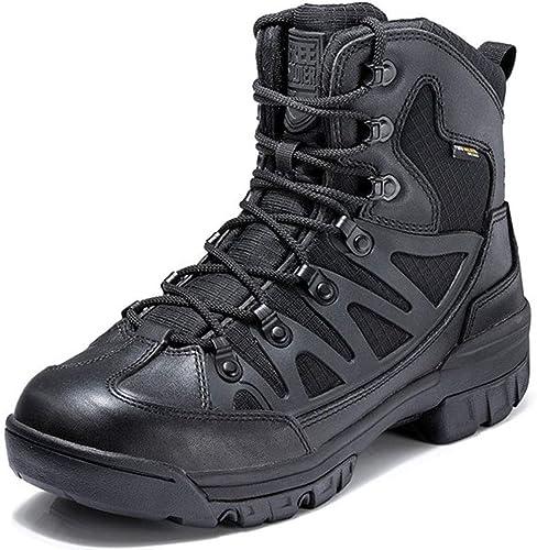 Liabb Ejército Militar de los hombres botas tácticas botas de Combate Armadas Caza al Aire Libre Senderismo Patrulla Camping Calzado Deportivo Calzado de la policía del Desierto,negro,44