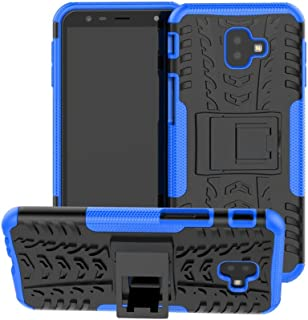 Galaxy J6 Plus Hybrid Case DWaybox Rugged Heavy Duty Hard Back Case Cover with Kickstand for Samsung Galaxy J6 Plus/J6 Prime 2018/J4 Plus/J4 Prime 2018 6.0 Inch (Blue)