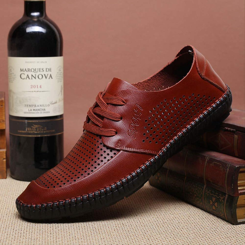 BYCYU Lederschuhe Herren Herren Helle Leder Geschnitzt Geschnitzt Bullock Schuhe, Vintage Oxford Herren Einzelschuhe, Leder Business Schuhe