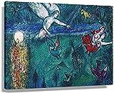 DPZAFL Posters para Pared Marc Chagall Adán y Eva expulsados del paraíso Carteles de Arte impresión de Imagen de Cocina Lienzo Dormitorio Pared Decorativa 60x90cm x1 Sin Marco