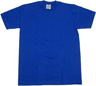 Pro Club Comfort Mens Plain Blank Preshrunk 100% Cotton Crew Short Sleeve T Shirt, Royal Blue, XX-Large