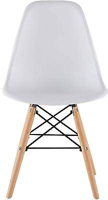 4つのチェアホワイト色のダイニングチェアプラスチック製の椅子セット