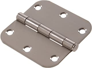 Hardware Essentials Residential Door Hinges Removable Pin Stainless Steel 3-1/2