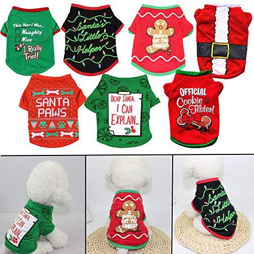 hudreasy Haustierkleidung, Weihnachts-Katzenmantel, Halloween-Kostüm, Cosplay-Weste, Hunde-Sweatshirts
