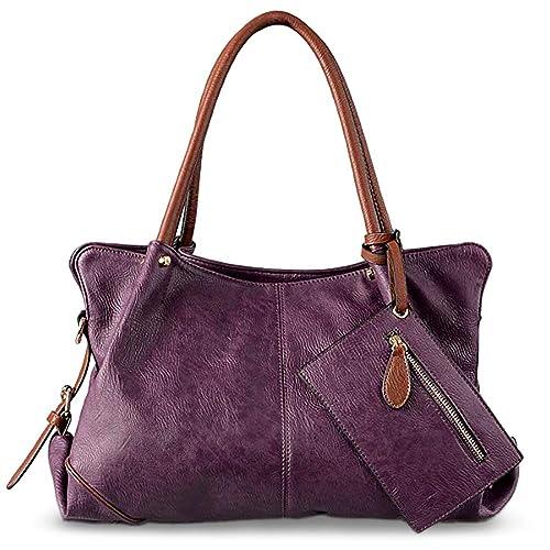 UTO Women Hobo Purse 3 Pieces Handbag Set PU Leather Tote Bag Satchel  Shoulder Bags with b70345fe2ba89
