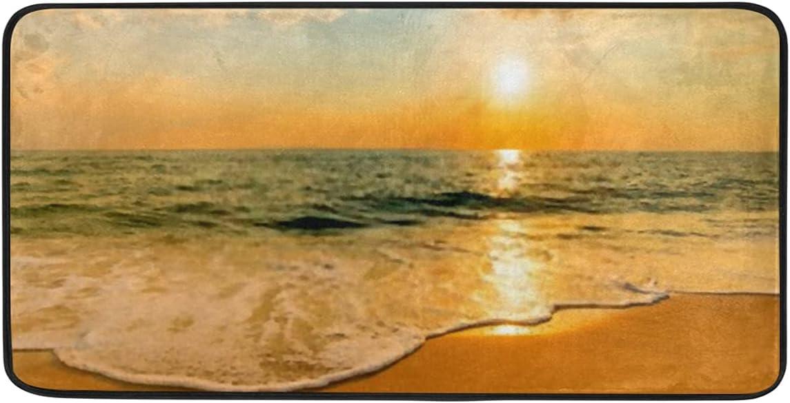 Anti Fatigue Kitchen Mat Soft Sea Non On Bubbles Sli Waves Beach Max price 86% OFF