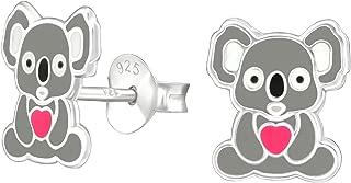 koala earrings silver