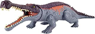 Jurassic World Massive Biters Larger-sized Dinosaur Action Figure with Tail-activated Strike and Chomping Action, , Movab...