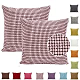 Solid Color Big Striped Thick Decorative Cushion Cover