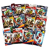 Marvel Avengers Blind Bags Party Favors Pack - 12 Avengers Mystery Packs Surprise Dog Tags (Party Supplies) (Blind Bags) (Party Favors)