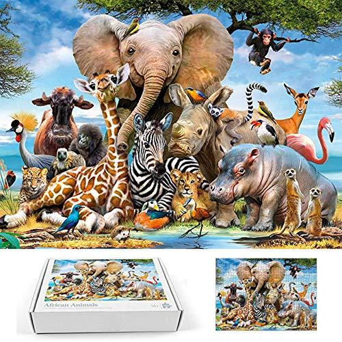 Uniqueq1n9 1000 Piezas de Rompecabezas para niños Adultos - Mundo Animal, Juegos intelectuales, Juguetes de descompresión, Regalo Creativo, decoración del hogar