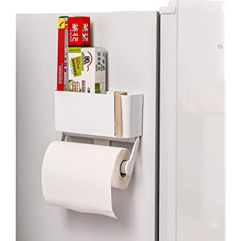 SOEKAVIA キッチン ペーパー ホルダー ペーパータオル ホルダー マグネット 収納 ラップホルダー キッチン用品 取り付け簡単 強力磁石 冷蔵庫に貼り付け ロールホルダー 大サイズ(マグネット式)