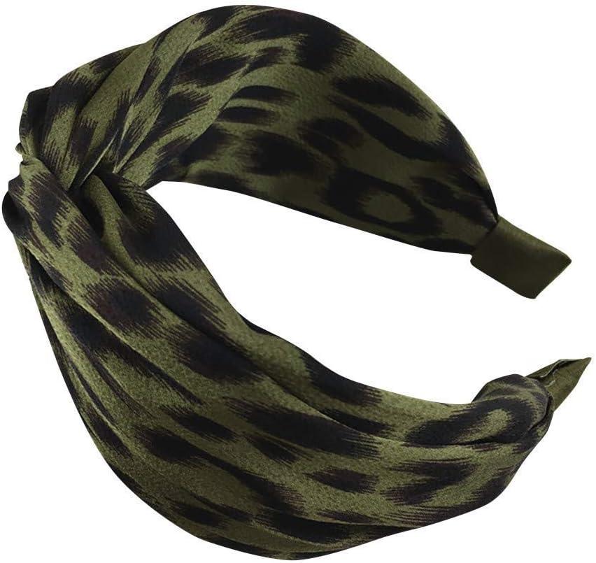 XJJZS Headband Floral Twist Turban Austin Mall Cross Knot Finally resale start Head Wide
