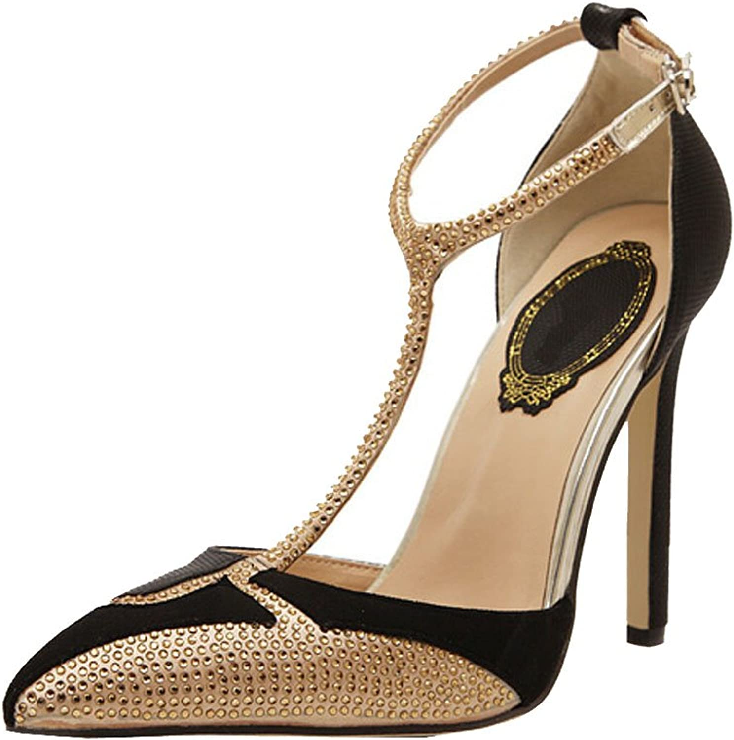 Summer new spell color diamond pointed high-heeled sandals with star women's shoes