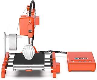 LABISTS Impresora 3D X1, impresora mini y portátil con filamento PLA de 10 m, placa de construcción extraíble, impresión en línea/fuera de línea Impresora 3D Tamaño de impresión 100mm x 100mm x 100mm
