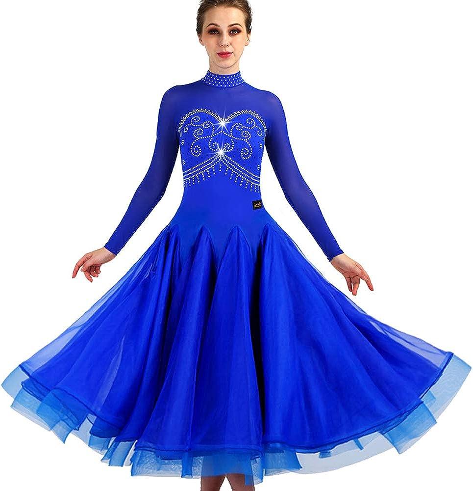 New Latin Ballroom Dance Dress Waltz Standard Salsa 4 years warranty Modern Long 2021 spring and summer new