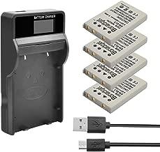 Bonadget EN-EL5 Battery Charger Set, 1500mAh 4-pack Replacement Battery and LCD Charger Compatible with Nikon Coolpix 3700, 4200, 5200, 5900, 7900, P3, P4, P80, P90, P100, P500, P510, P520, P530, P500