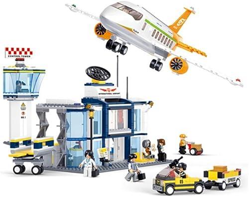 Sunasd Geb e Spiel Bausteine  pielzeug Montage Bausteine  lugzeugmodelle Kinderspielzeug Geburtstag Geschenke, Internationaler Flughafen
