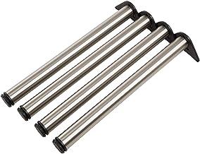 ALPENSTAHL Metalen meubelvoet verstelbaar tafelpoot roestvrij staal tafelvoet cilindrisch - model H10251 | bureaupoten met...