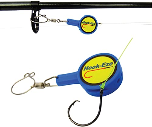 Hook-Eze Fishing Gear Knot Tying Tool | Line Cutter| Cover Hooks on Fishing Rods Travel Safely Fully Rigged for Saltw...
