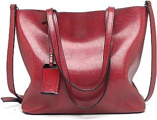 Fanspack Women Shoulder Bag Retro Large Capacity Handbag Purse Waterproof Tote Handle Bag