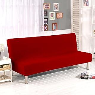 comprar comparacion Cornasee Funda de Clic-clac elástica, Cubre/Protector sofá de 3 plazas,Color sólido,Rojo