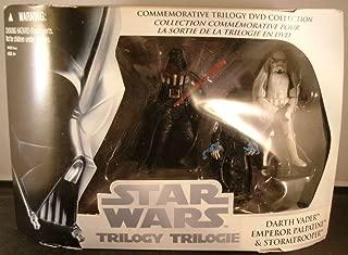 Star Wars Commemorative Trilogy DVD Collection Action Figure Set: Return of the Jedi (Darth Vader, Emperor Palpatine, Stormtrooper)