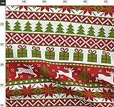 Hirsch, Baum, Winter, Urlaub, Weihnachten, Muster,