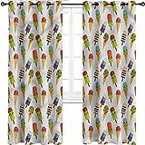 UNOSEKS LANZON cortinas opacas con diseño de helado, para decoración...