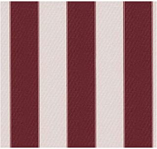 """Stripe Waterproof Canvas Awning Fabric Fabric Waterproof Outdoor Fabric 60"""" RED_White (10 Yards)"""