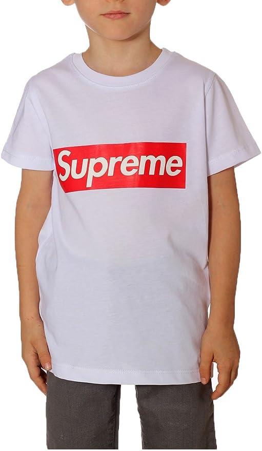 Supreme - Camiseta de manga corta - para niño blanco Bianco ...