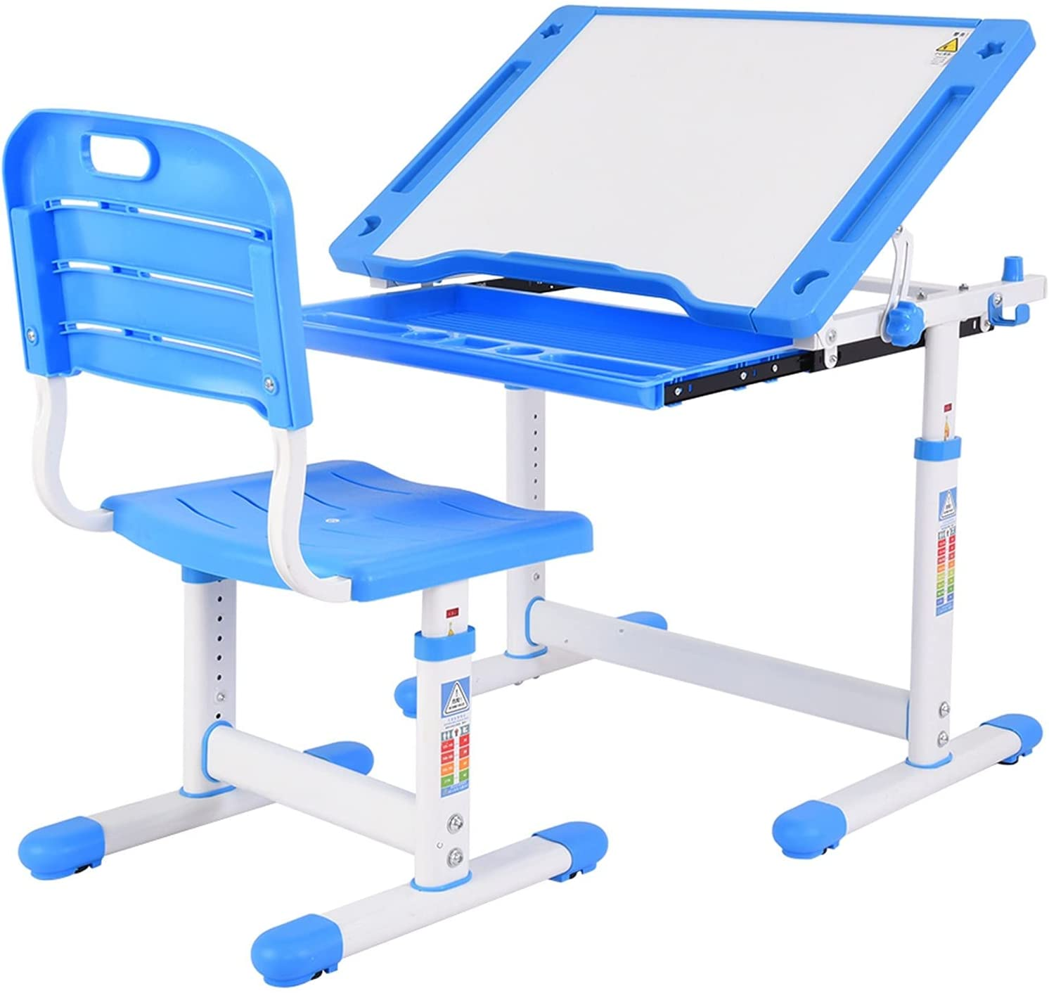 EWGQWB Child Table and Chair Set Adjustable Now free shipping S Height Drawer with Austin Mall