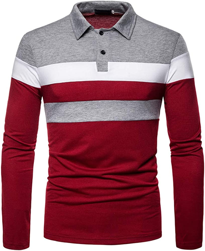 HHGKED Polo Shirts for Men Product Casual Fit Short Slim Max 77% OFF Long Sleeve S