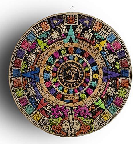 """10"""" AZTEC CALENDAR STONE, WALL DECOR, MEXICAN DECOR, OUTDOOR WALL DECORATIONS FOR PATIO, MEXICAN WALL DECOR, MEXICAN ART WALL DECORATIONS."""