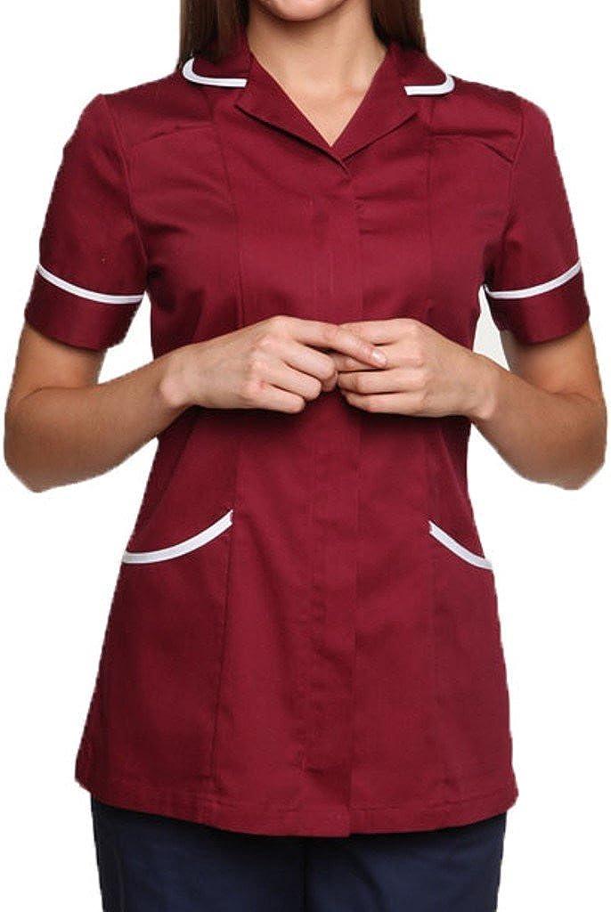 Mirabella Health & Beauty Damen Medizin Und Pflege Kasack Nightingale Rötlichbraun-weiß