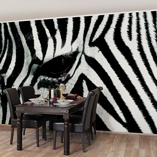 Apalis Vliestapete Zebra Crossing Fototapete Breit   Vlies Tapete Wandtapete Wandbild Foto 3D Fototapete für Schlafzimmer Wohnzimmer Küche   schwarz, 94873