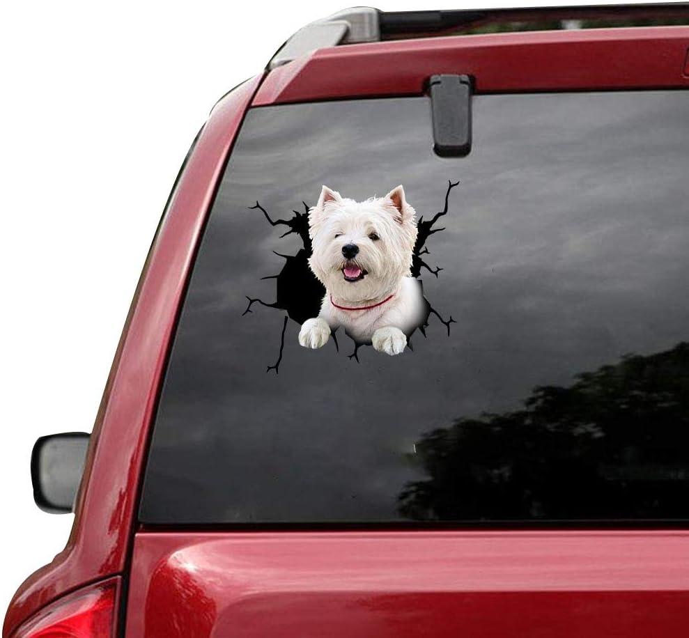 RAMUATI 5 pcs West OFFicial Regular dealer shop Highland White Funny Dog Love Terrier Decal