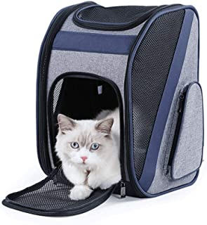 MAOSHE Pet Backpack - Out-of-The-Shoulder Backpack, Portable Cat Bag, Bag-Type Firm, Light and Easy to Fold, Used for Pet ...