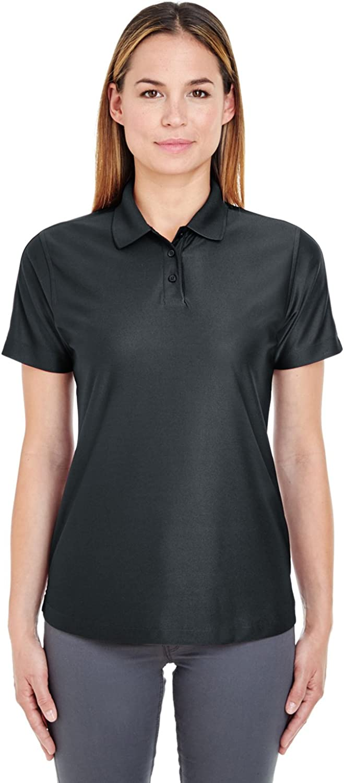 UltraClub Ladies' Cool & Dry Elite Polo Shirt, Black, Small. (Pack of 3)