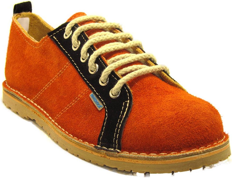 La Auténtica R906FP - Sports shoes Suede, Unisex Adult, orange Black