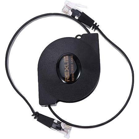 Solustre Cat 6 Ethernet Kabel 1 Gigabit Ausziehbares Ethernet Kabel Cat 6 Ultra Flat Rj45 Anschlüsse Für Lan Netzwerk Modem Router Pc Drucker Switch Box 1 Meter Gewerbe Industrie Wissenschaft