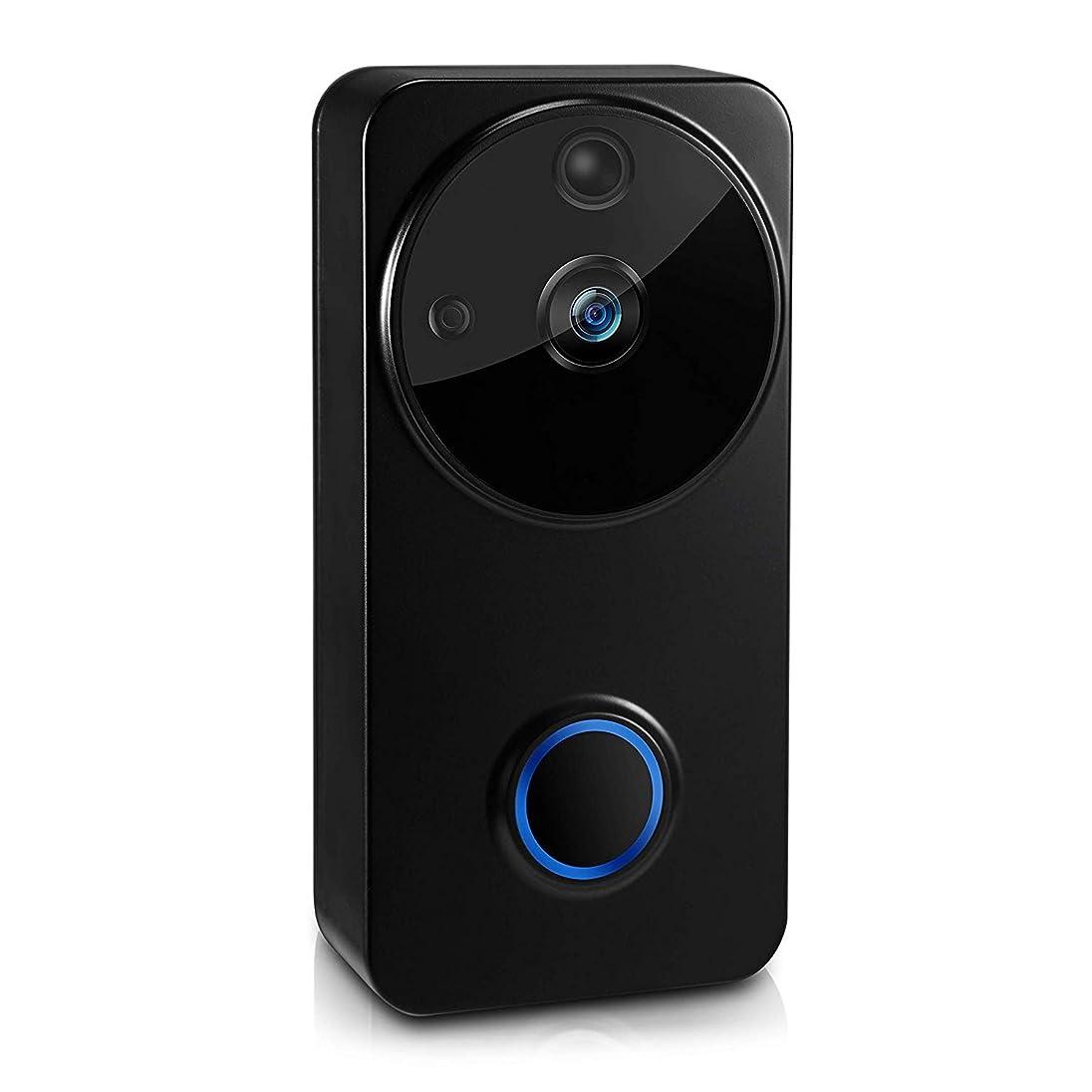 滑り台治療驚かす超小型カメラ ワイヤレスWiFiビデオドアベルスマートドアベル付属の屋内ベル2個電池32GB TFカードリモコンナイトビジョン2つの方法オーディオ防水