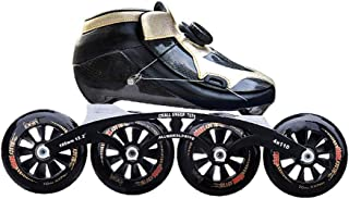 Adult Inline Skates Professional Carbon Fiber Speed Roller Skates Thermoplastic Game Sports Shoes Great For Beginners With Helmet/Backpack/Protective Equipment