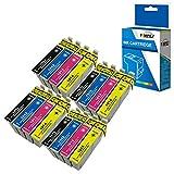Fimpex Compatible Encre Cartouche Remplacement Pour Epson XP-102 XP-202 XP-205 XP-212 XP-215 XP-225 XP-30 XP-302 XP-305 XP-312 XP-315 XP-322 XP-325 XP-402 XP-405 XP-405WH XP412 18XL (B/C/M/Y, 16-Pack)