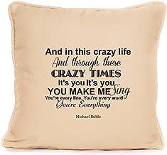 Per7gper7g Michael Buble Everything Song - Cojín con Almohadilla incluida, 45,7 x 45,7 cm B 579865