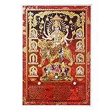 Bild Durga auf Tiger 33 x 48 cm Gottheit Hinduismus