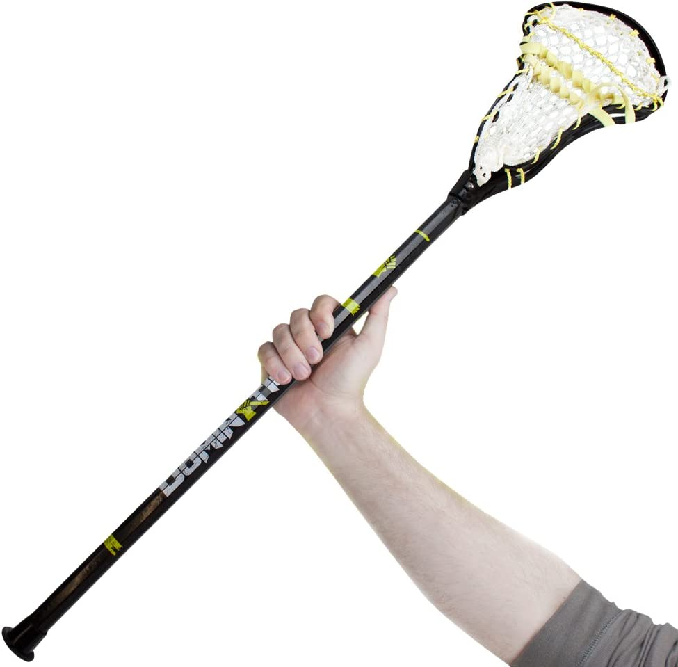 """Domination 33"""" Indoor/Outdoor Lacrosse Mini Stick by Crown Sporting Goods, Black : Sports & Outdoors"""