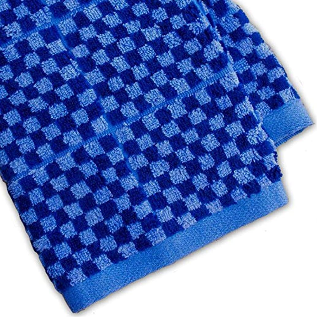 Murphy Bamboo 26.5-Inch-by-13-Inch Luxury Bamboo Kitchen Dish and Hand Towels, Blue and Cobalt Blue Plaid (Set of 2)