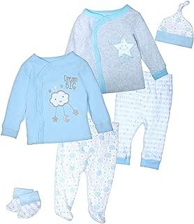 Duck Duck Goose Baby Boys & Girls 6-Piece Cap, Shirt, and Pants Sets