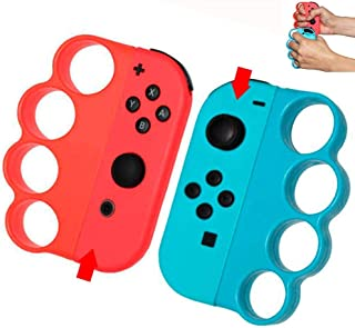 RALAN Portable Left/Right Boxing Fitness Gaming Finger Clasp Hand Grip Handle for Nintendo Switch Fitness Boxing Games-2 P...
